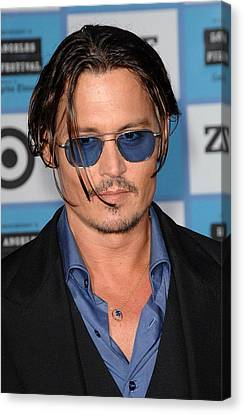 Johnny Depp At Arrivals For 2009 Los Canvas Print by Everett