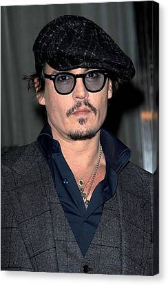 Johnny Depp At Arrivals For Playboy Canvas Print by Everett