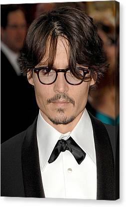 Johnny Depp At Arrivals For Red Carpet Canvas Print