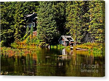 Johnny Sack Cabin II Canvas Print by Robert Bales