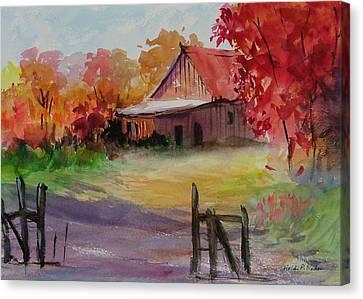 John's Barn Canvas Print