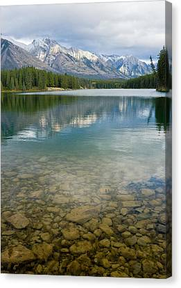 Johnson Lake Rocks Canvas Print by Adam Pender