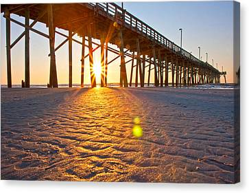 Jolly Roger Pier Sunrise U Canvas Print
