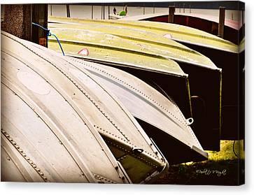 Jon Boats Canvas Print by Paulette B Wright