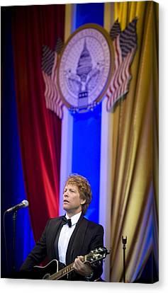 Jon Bon Jovi Performs Canvas Print by Everett