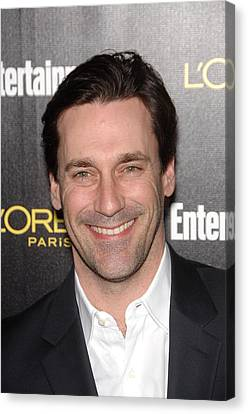 At Arrivals Canvas Print - Jon Hamm At Arrivals For Entertainment by Everett