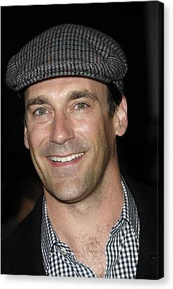 Jon Hamm At Arrivals For Get Him To The Canvas Print by Everett