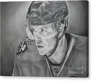 Nhl Hockey Canvas Print - Jonathan Toews by Brian Schuster