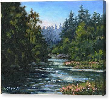 Jones' Creek Canvas Print by Richard De Wolfe