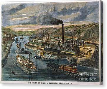 Jones/laughlin Iron Works Canvas Print by Granger