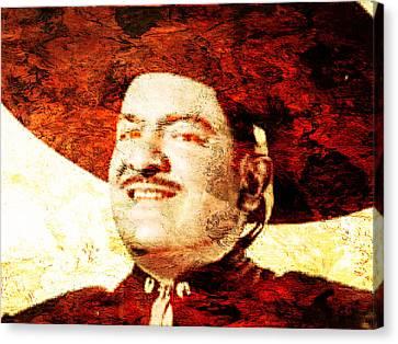 Jose Alfredo Jimenez Canvas Print by J- J- Espinoza