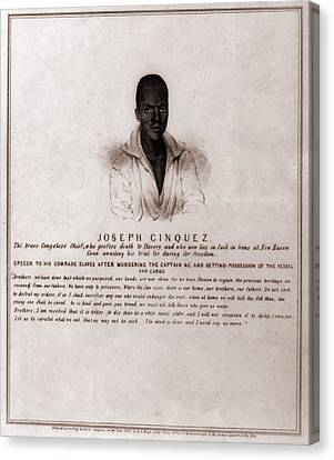 Antislavery Canvas Print - Joseph Cinquez, Lead Fifty-four African by Everett