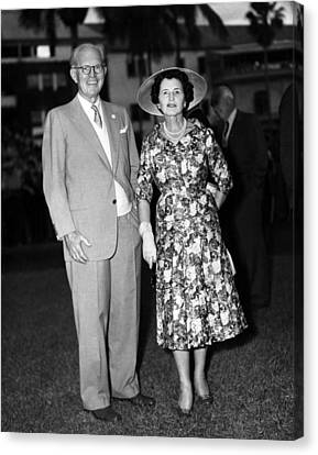 Joseph P. Kennedy And Wife Rose Canvas Print by Everett