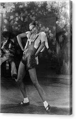 Josephine Baker At The Folies Bergere Canvas Print by Everett