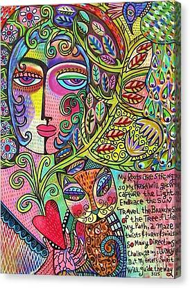 Journey Of The Heart Canvas Print by Sandra Silberzweig
