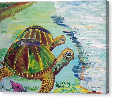 Journey Canvas Print by Renate Pampel