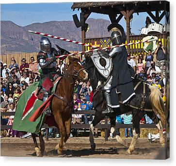 Joust To The End... Canvas Print by Jon Berghoff