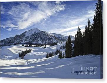 Joyeux Noel Austria Europe Canvas Print by Sabine Jacobs