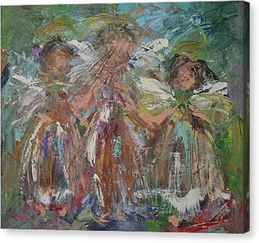 Joyful Chorus Canvas Print by Kathy  Cuiffi