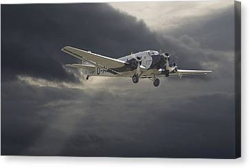 Storm Canvas Print - Ju52 -- Iron Annie by Pat Speirs