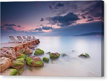 Juan Les Pins, French Riviera Canvas Print by Eric Rousset