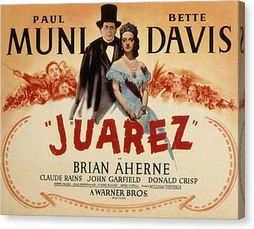 Juarez, Paul Muni, Bette Davis, 1939 Canvas Print by Everett