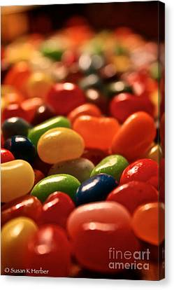 Jubilant Jelly Beans Canvas Print by Susan Herber