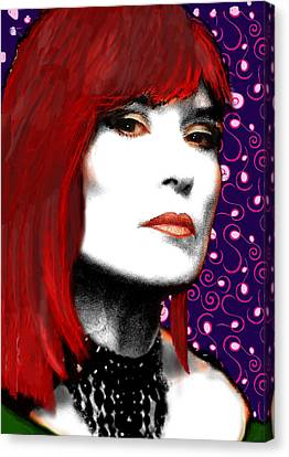 Canvas Print featuring the painting Judy Rose by Jann Paxton