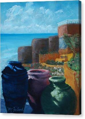 Juju Jars - Cancun Canvas Print by Lorraine McFarland