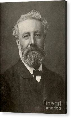 Jules Verne, French Author Canvas Print by Photo Researchers