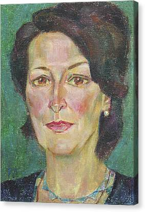 Julia Resnick Canvas Print by Leonid Petrushin