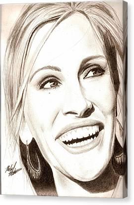 Julia Roberts Canvas Print by Michael Mestas
