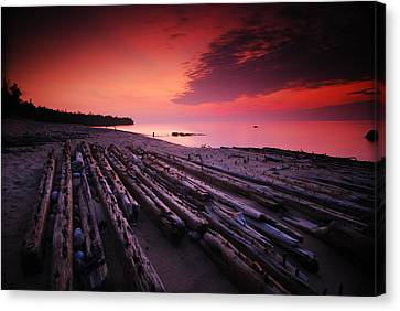 July Fourth Eighteen Eighty Three Shipwreck Canvas Print by Mike Thompson