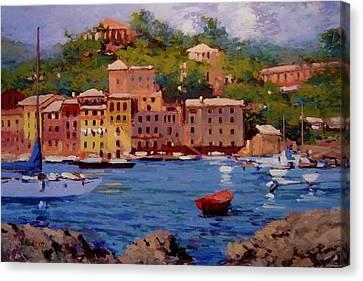 July In Portofino Canvas Print by R W Goetting