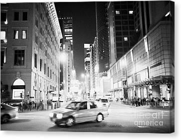 Tsui Canvas Print - Junction Of Salisbury Road And Nathan Road Tsim Sha Tsui Kowloon At Night Hong Kong Hksar China Asia by Joe Fox