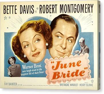 June Bride, Bette Davis, Robert Canvas Print by Everett