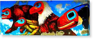Juneau Mural 2 Canvas Print by Randall Weidner