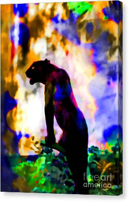 Jungle Cat On The Prowl Canvas Print by Elinor Mavor