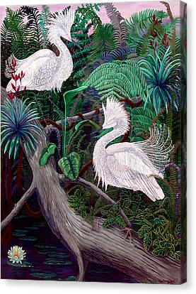 Jungle Dance Canvas Print by Lyn Cook