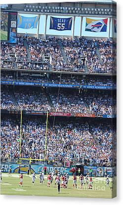 Junior Seau Canvas Print by RJ Aguilar