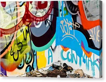 Junk Graffiti Canvas Print by Yurix Sardinelly