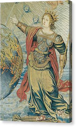 Tapestries - Textiles Canvas Print - Juno, Roman Goddess by Photo Researchers