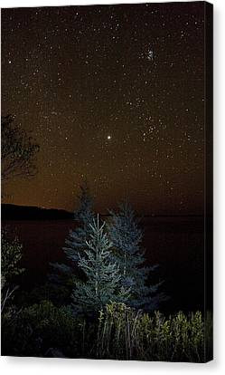 Jupiter  Over Otter Point 3 Canvas Print by Brent L Ander