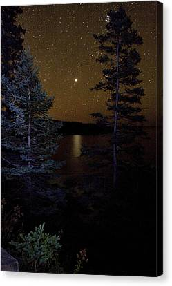 Jupiter Rising Over Otter Point Canvas Print by Brent L Ander
