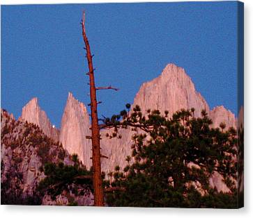 Jupiter Setting Between The Keeler Needles Canvas Print