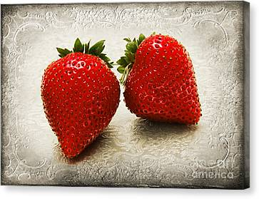 Just 2 Classic Berries Canvas Print by Andee Design