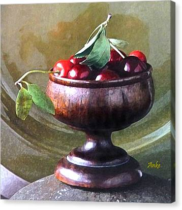 Just A Bowl Of Cherries Canvas Print by Anke Wheeler