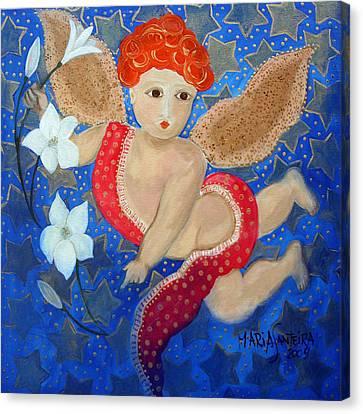 Just A Little Cherubim Canvas Print by Maria Matheus Maria Santeira