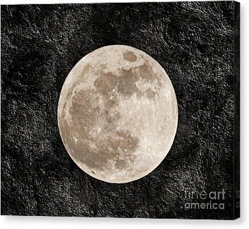 Just A Little Ole Super Moon Canvas Print by Andee Design
