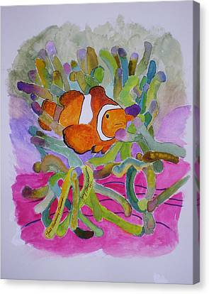 Canvas Print featuring the mixed media Just Clowing Around by Joy Braverman